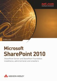 Microsoft SharePoint 2010  - *ISBN 978-3-8273-3028 ...
