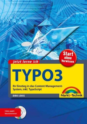 Jetzt lerne ich Typo3  – *ISBN 978-3-8272-4516-8 ...