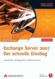 Exchange Server 2007 – Der schnelle Einstieg
