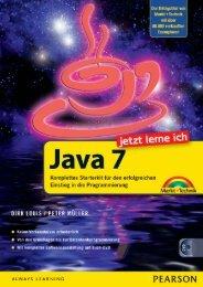Jetzt lerne ich Java 7 - Pearson Bookshop - Pearson Deutschland