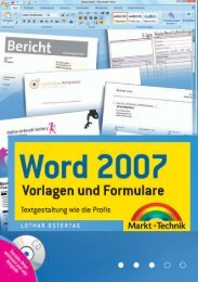 Word 2007 - Vorlagen und Formulare  - Markt und ...