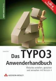 Das TYPO3-Anwenderhandbuch  - *ISBN 978-3-8273 ...