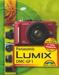 Panasonic Lumix DMC-GF1  - *ISBN 978-3-8272-4651 ...
