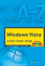 Windows Vista von A – Z  - *ISBN 978-3-8272 ...