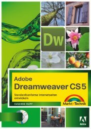 Adobe Dreamweaver CS5  - *ISBN 978-3-8272 ...