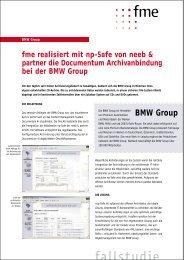 BMW Group: Documentum Archivanbindung mit np-safe - fme AG