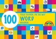 100 tolle Sachen die Sie mit Word machen  - *ISBN ...