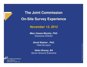 The Joint Commission On-Site Survey Experience