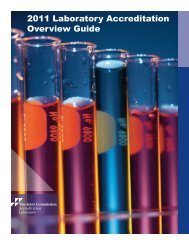2011 Laboratory Accreditation Overview Guide - Joint Commission