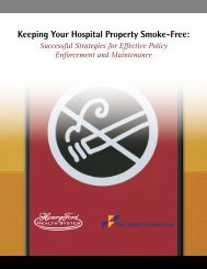 Keeping Your Hospital Property Smoke-Free ... - Joint Commission