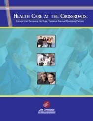 Health Care at the Crossroads: Strategies for ... - Joint Commission