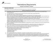 Telemedicine Requirements - Hospital Accreditation Program