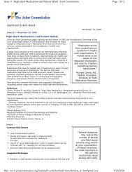 High-Alert Medications and Patient - Joint Commission