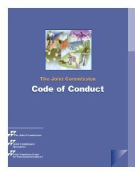 Code of Conduct - Joint Commission