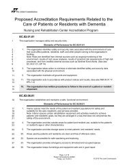 Proposed Accreditation Requirements Related ... - Joint Commission
