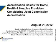 Download the slideshow - Joint Commission