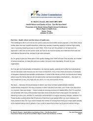 View Video Transcript - Joint Commission