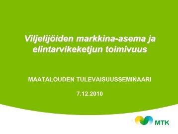 Elintarvikemarkkinoiden toimivuus Johan Åberg.pdf - MTK