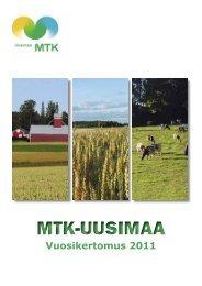 Vuosikertomus 2011 [pdf, 1,7 mt] - MTK