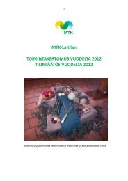 MTK-Laitilan TOIMINTAKERTOMUS VUODELTA 2012 ...