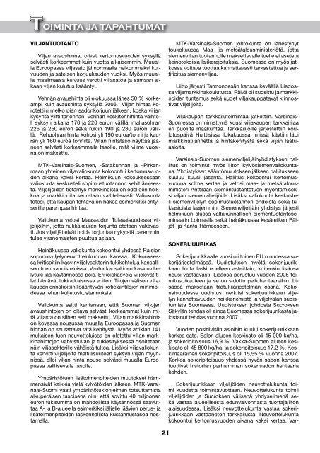 Toimintakertomus 2007 [pdf, 9,4 mt] - MTK