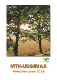 Vuosikertomus 2012 [pdf, 2 mt] - MTK