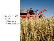 Kansallisen maatalouspolitiikan loppuvuodet [pdf, 225 kt] - MTK