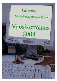 uudenmaan maataloustuottajain liitto 2008 - MTK
