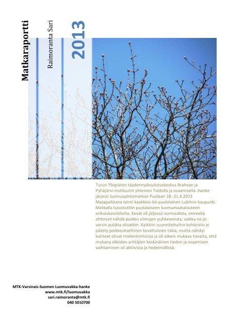 Matkaraportti [pdf, 760 kt] - MTK