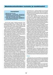 Maataloustuotteiden tuotanto ja markkinointi [pdf, 442 kt] - MTK