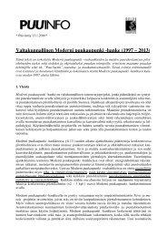 Valtakunnallinen Moderni puukaupunki -hanke (1997 – 2013) - MTK
