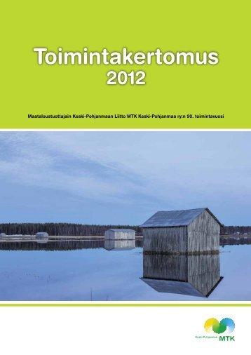 Toimintakertomus 2012.pdf - MTK