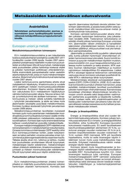 Metsäasioiden kansainvälinen edunvalvonta [pdf, 99 kt] - MTK