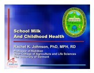 School Milk and Childhood Health - National Dairy Council