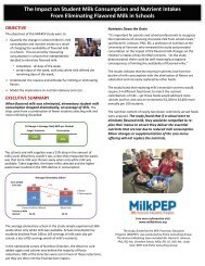 The Impact on Student Milk Consumption and Nutrient Intakes From ...