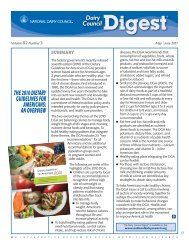 2010 Dietary Guidelines for Americans - National Dairy Council