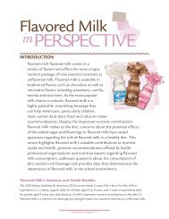 Flavored Milk in Perspective - National Dairy Council