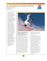 U.S. whey products and sports nutrition - National Dairy Council