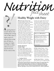 Healthy Weight with Dairy Fact Sheet - National Dairy Council