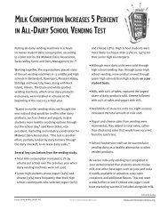 milk consumption increases 5 percent in all-dairy school vending test