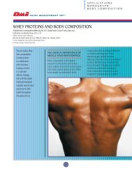 Whey Proteins and Body Composition - National Dairy Council