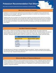 Potassium Recommendation Fact Sheet - National Dairy Council