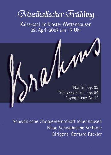 "Programmheft Konzert ""Brahms"""