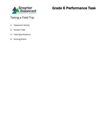 Grade 6 Performance Task - Smarter Balanced Assessment ...