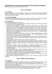 Utilizzo del Servizio di Posta Elettronica Aziendale - ULSS5