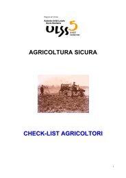 Checklist autocontrollo agricoltori - ULSS5