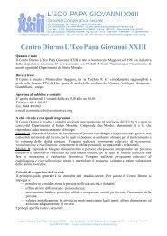 L'ECO PAPA GIOVANNI XXIII Centro Diurno L'Eco Papa ... - ULSS5
