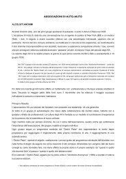 ASSOCIAZIONI DI AUTO-AIUTO - ULSS5