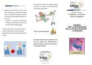 Opuscolo prevenzione delle cadute durante la degenza - ULSS5