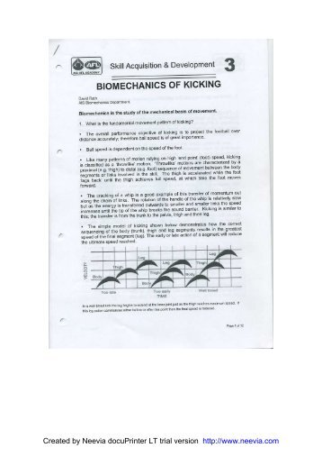 Biomechanics of Kicking - Ulster GAA